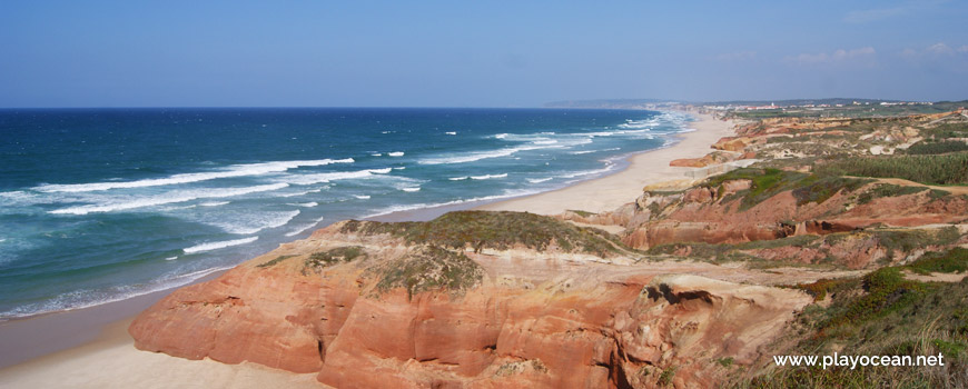 Panoramic at Praia da Almagreira Beach