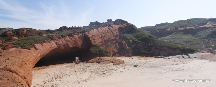 Cave at Praia da Almagreira Beach