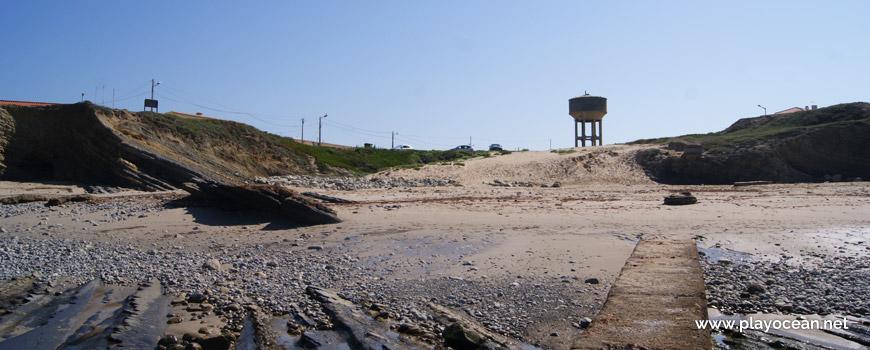 Praia do Portinho da Areia do Norte Beach and water tank