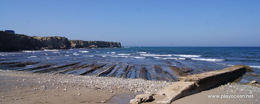 Rocky veins at Praia do Portinho da Areia do Norte Beach