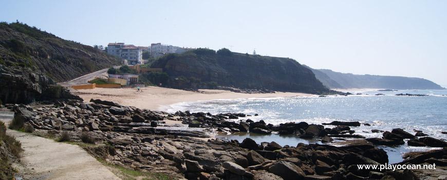 South at Praia de São Bernardino Beach
