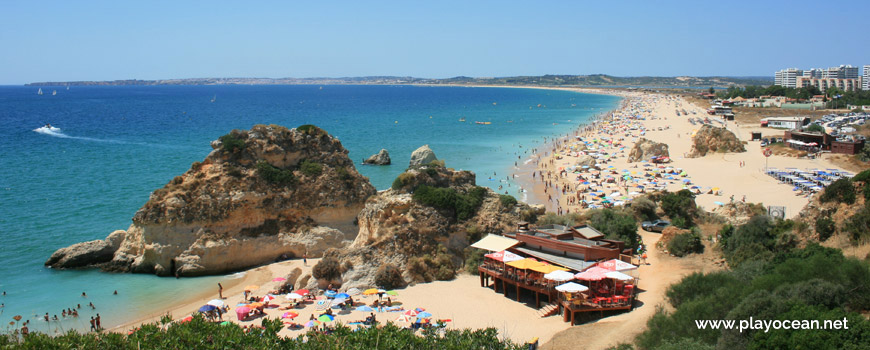 View over Praia do Alvor (East) Beach