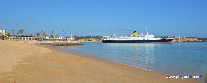 Navio cruzeiro no Rio Arade