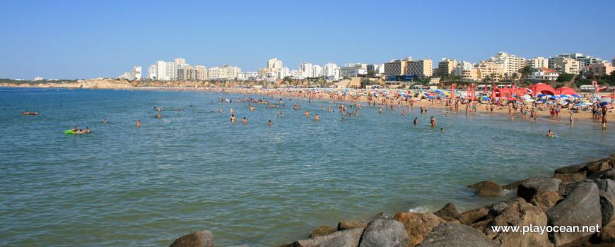 Zona de banhos na Praia da Rocha