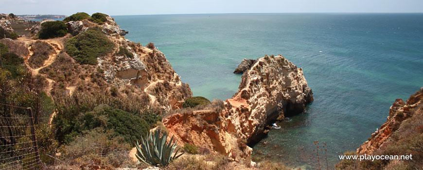 Cliff at Praia do Valentim de Carvalho Beach