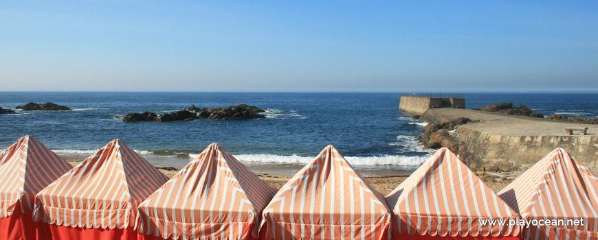 Barracas na Praia do Molhe