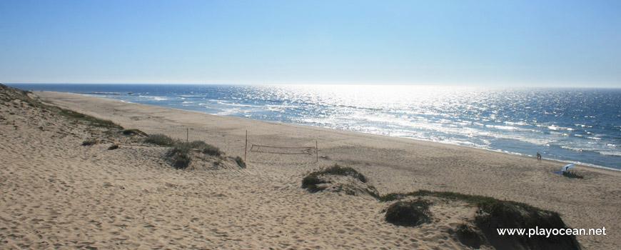 Rede de vólei na Praia da Codixeira