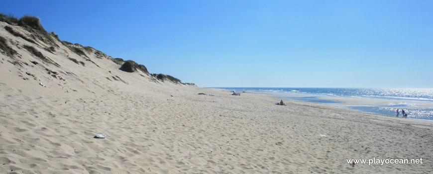 Sul da Praia do Parque de Campismo