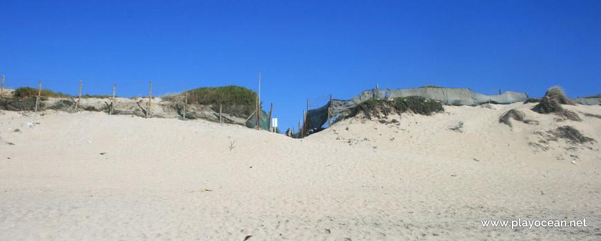 Vedação na Praia do Parque de Campismo