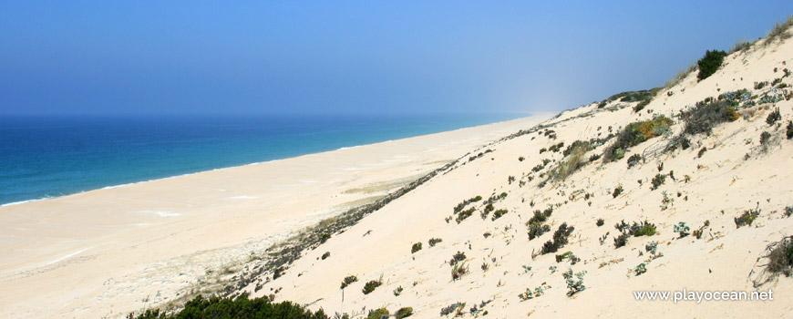 Norte da duna Praia das Areias Brancas