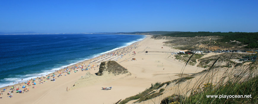 North, top of the dune at Praia do Moinho de Baixo Beach