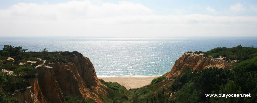 Arriba Fóssil da Costa da Caparica, Praia dos Olhos de Água