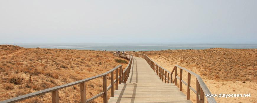 Acesso à Praia Grande de Pêra (Nascente)
