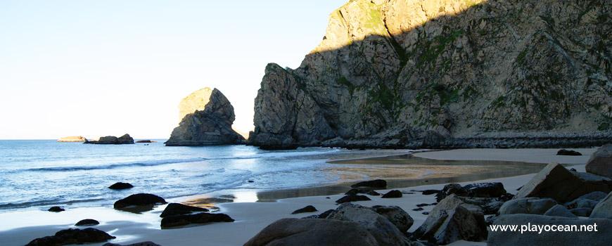 North at Praia de Assentiz Beach
