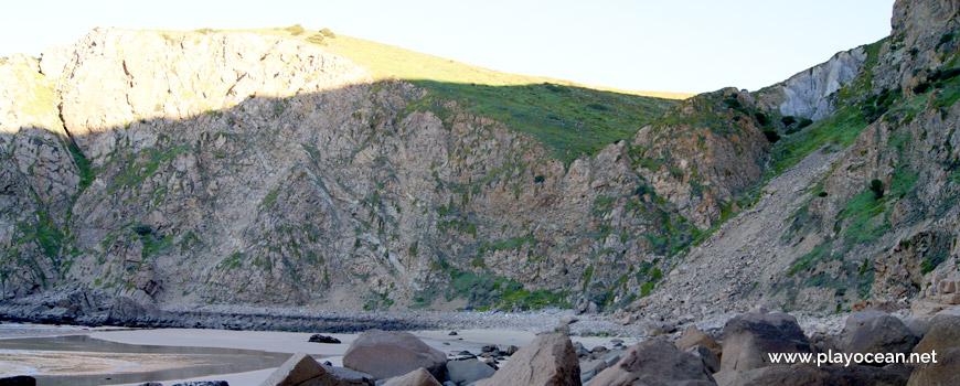Falésia na Praia de Assentiz