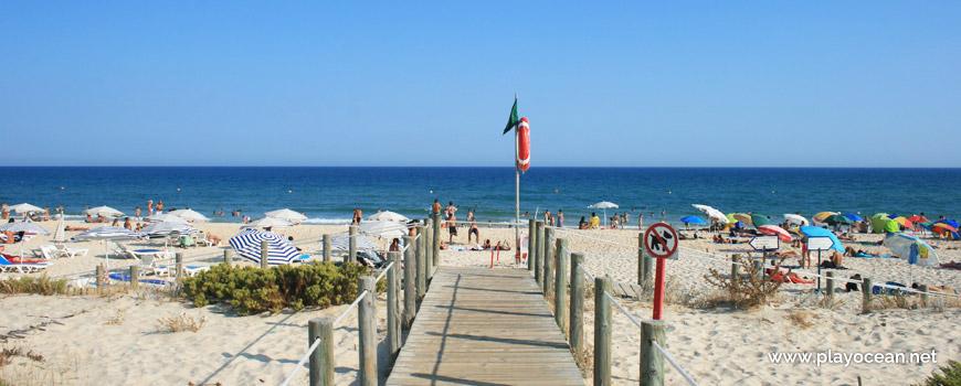 Entrance of Praia do Barril Beach