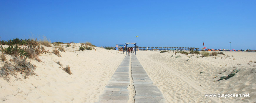 Entrance at Praia da Ilha de Tavira (Sea) Beach