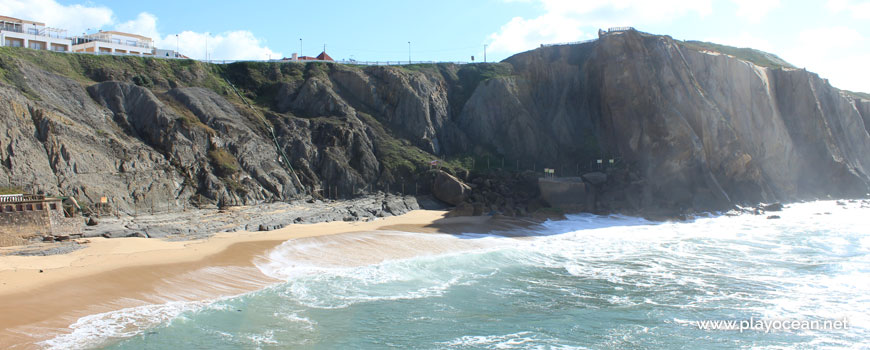 Cliff at Praia da Formosa Beach