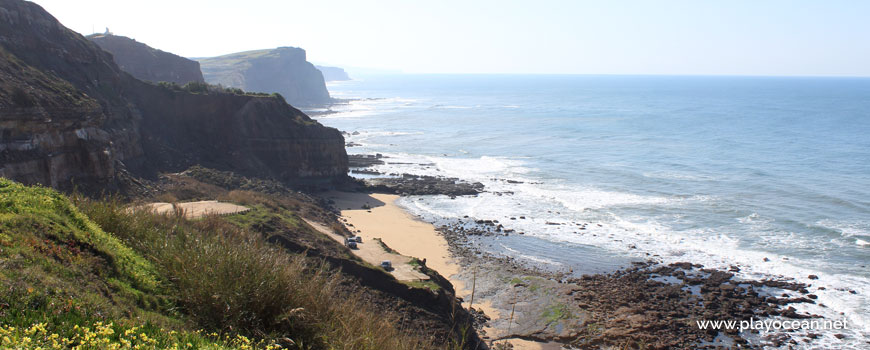Praia das Peças Beach viewed from the cliff