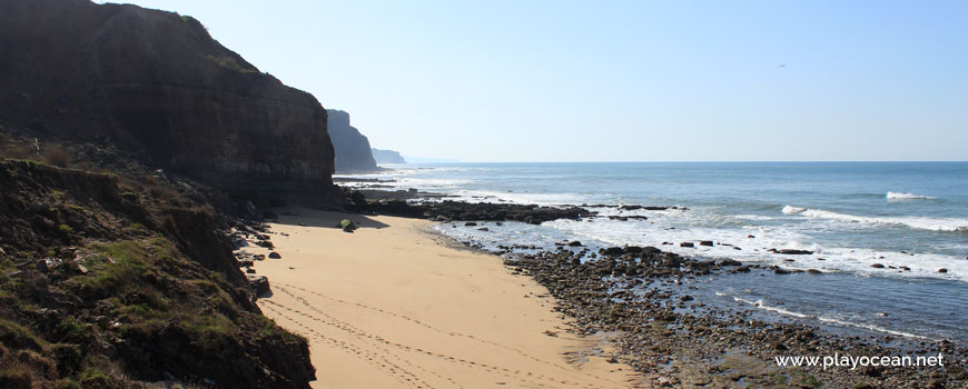 South at Praia das Peças Beach
