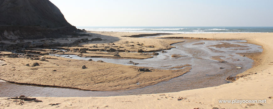 Stream at Praia de Santa Rita (South) Beach