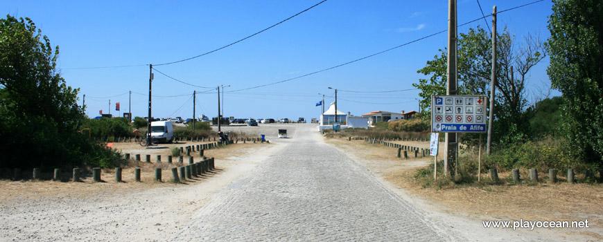 Estrada para a Praia Afife