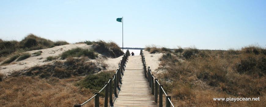 Entrance at Praia do Cabedelo Beach