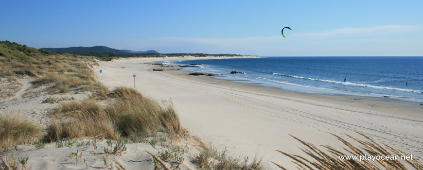 South of Praia de Luzia Mar Beach