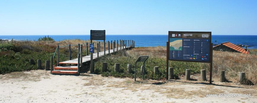Entrada, Praia de Paçô