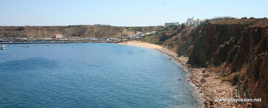 Seixos rolados na Praia da Baleeira