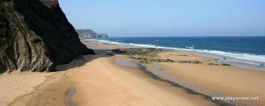 South at Praia da Barriga Beach