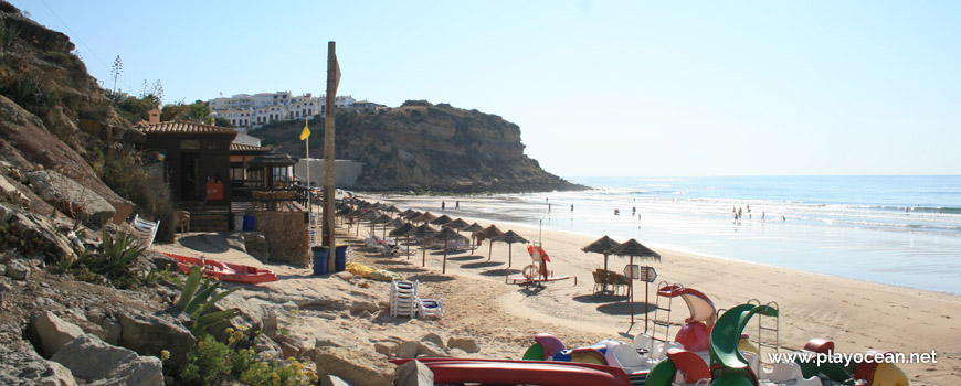 Bar of Praia do Burgau Beach