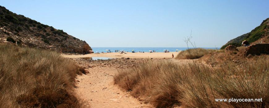 Entrance, Praia das Furnas Beach