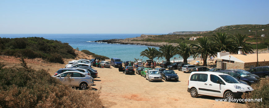 Parking of Praia da Ingrina Beach