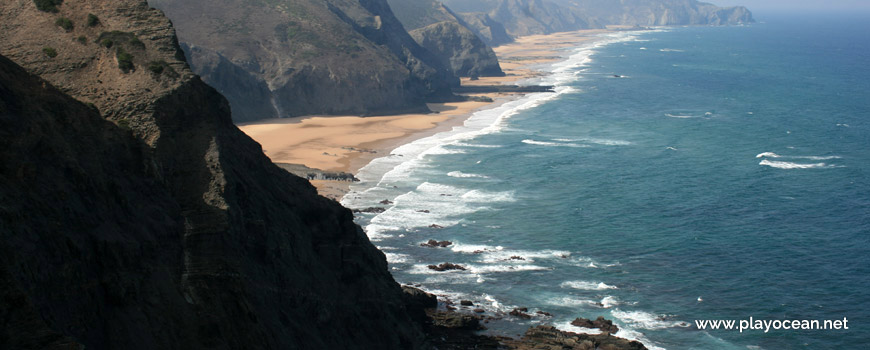Panoramic of Praia dos Mouranitos Beach