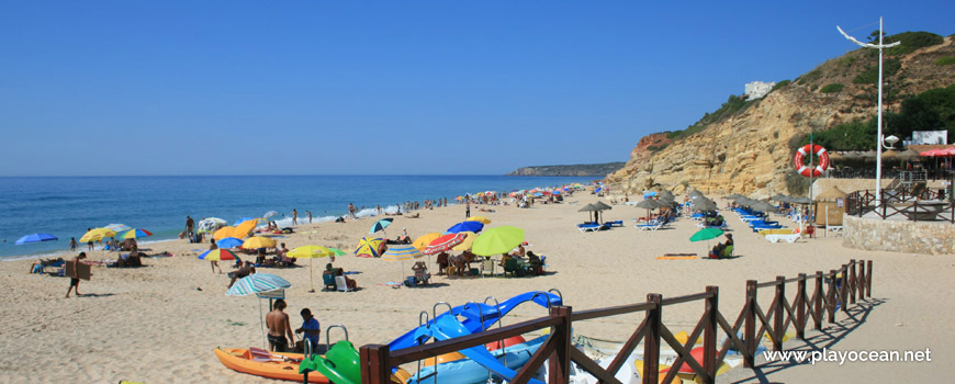 Entrance of Praia da Salema Beach