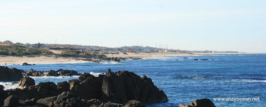 Panoramic of Praia de Labruge Beach