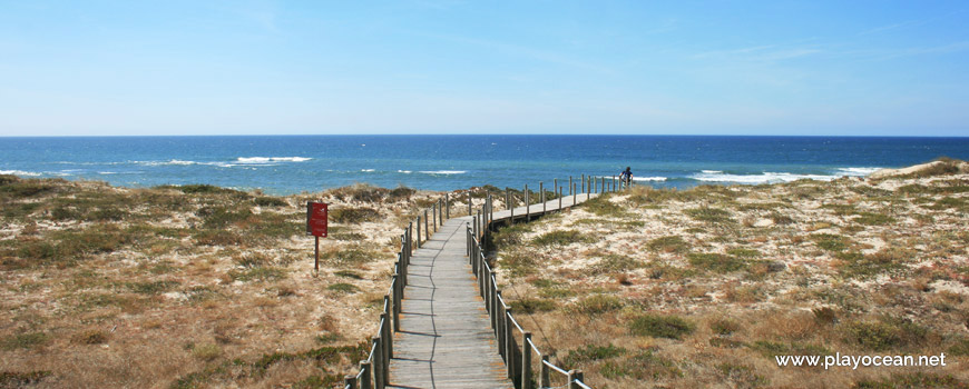 Walkway at Praia da Laderça Beach