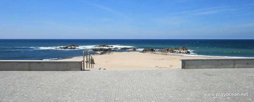Entrance of Praia de Mindelo Beach