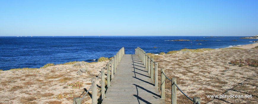 Walkway at Praia de Moreiró (North) Beach