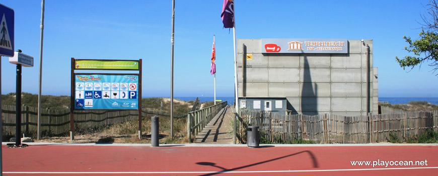 Entrance, Praia da Areia Branca Beach
