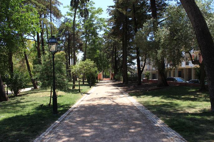 Jardim Da Quinta De Santa Clara Em Lisboa Portugal