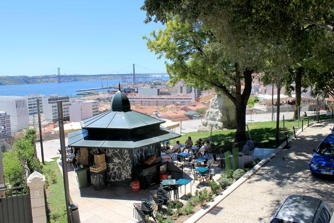 Jardim Do Alto De Santa Catarina Em Lisboa Portugal